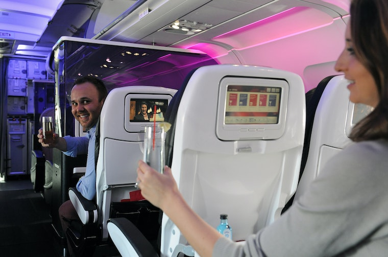 Virgin America in-flight experience