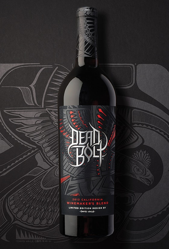 Dead Bolt wine identity packaging