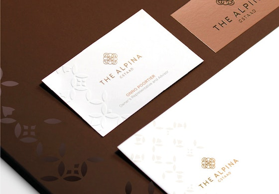 The Alpina Gstaad identity