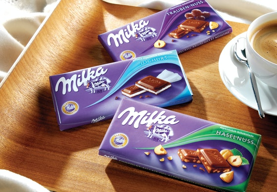 Milka chocolate packaging