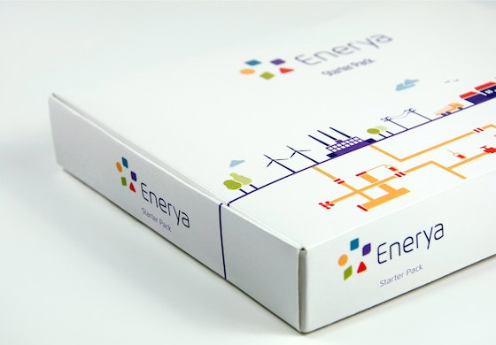 Enerya identity packaging