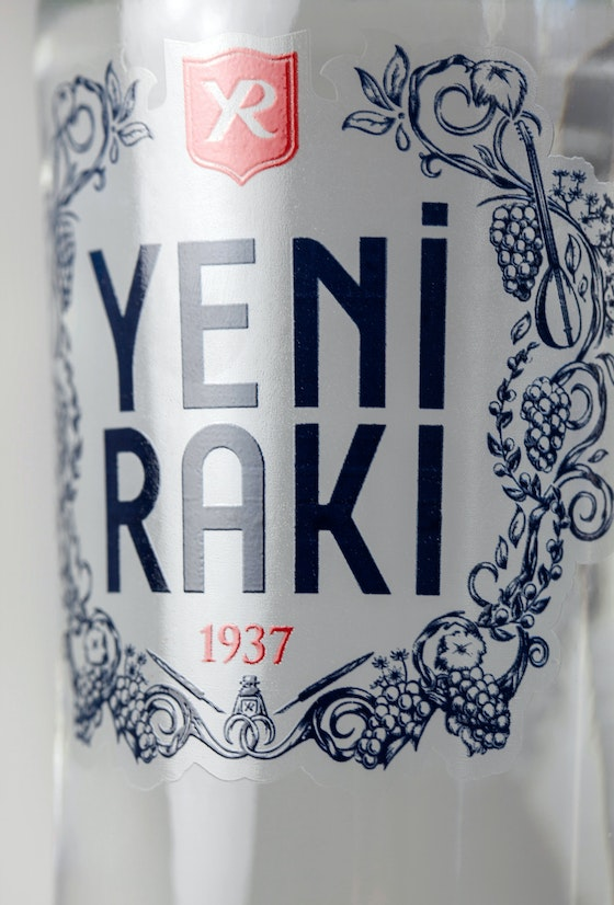 Yeni Raki identity packaging