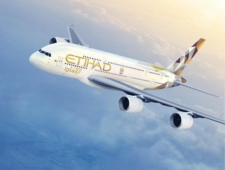 Plane after Etihad Airways rebrand