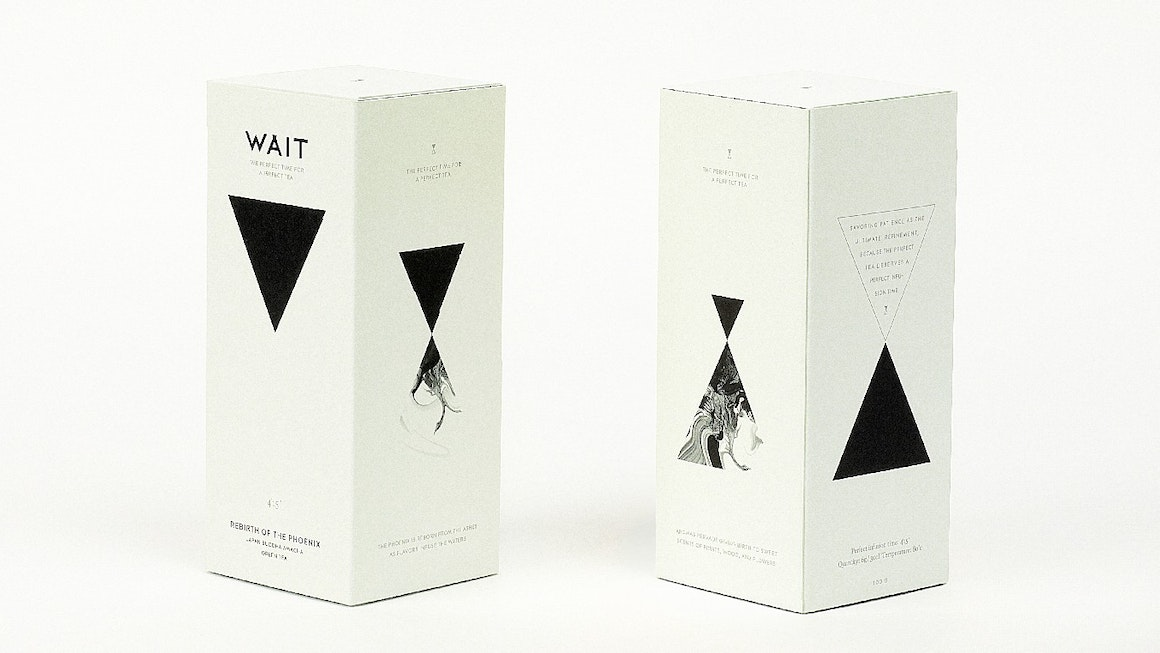 Wait tea packaging identity