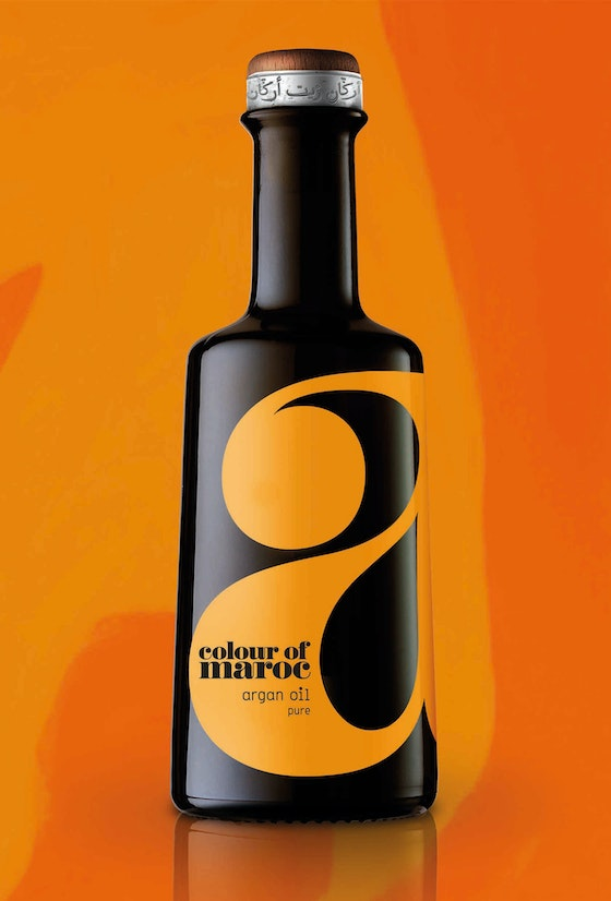 Colour of Maroc argan oil packaging