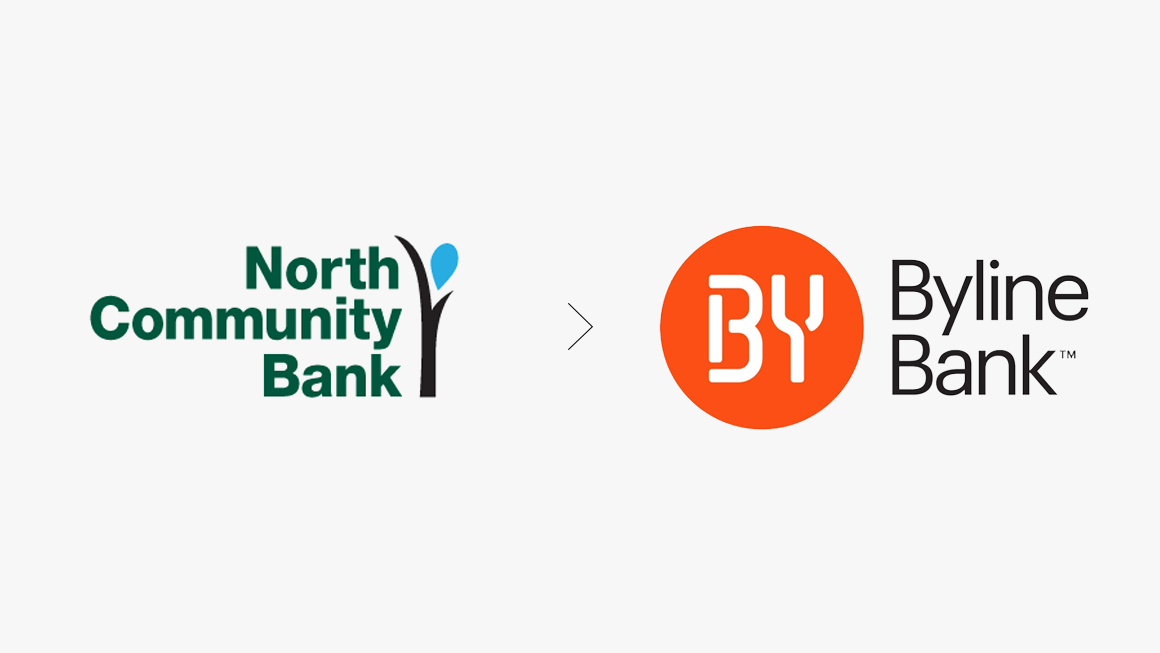 Byline Bank Logo Before and After
