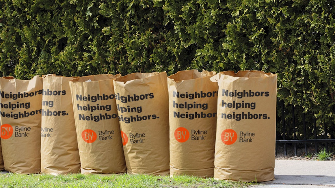 Byline Bank Leaf Bags to Help Community