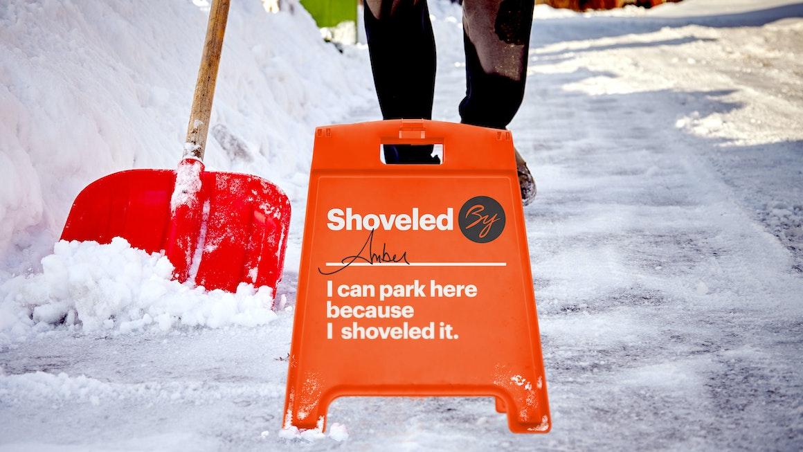 Byline Bank Community Activation Shoveling Snow