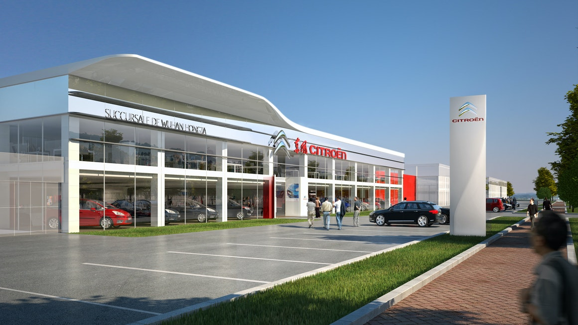 Citroën Store and Showroom from Outside