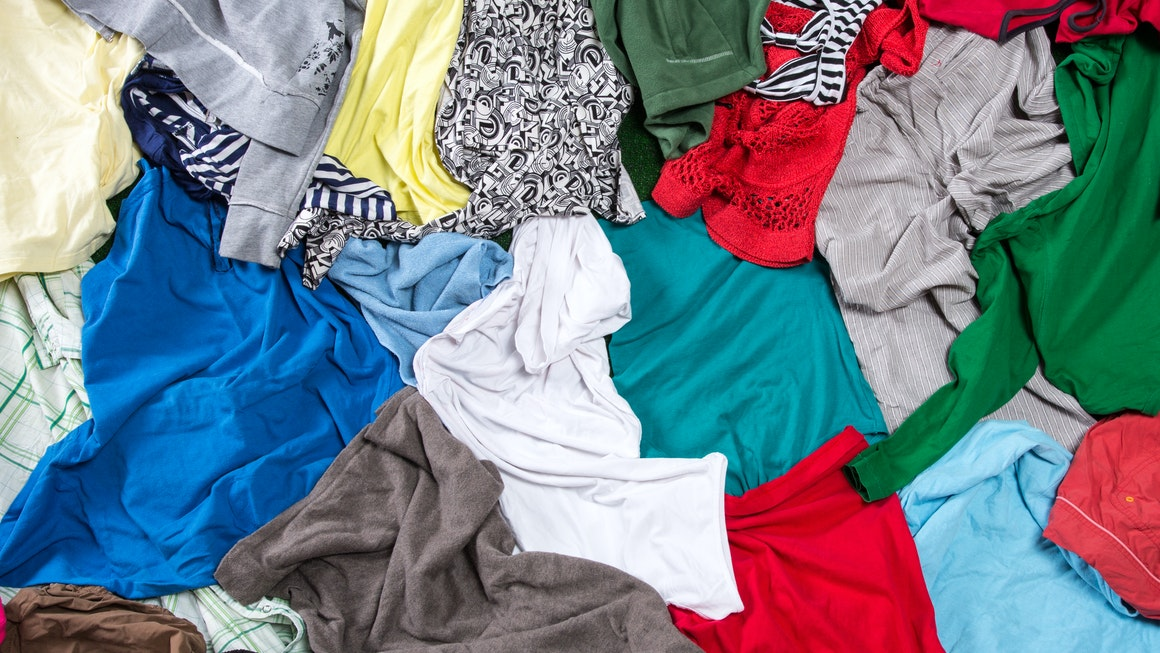 M&S Shwopping Clothing Pile