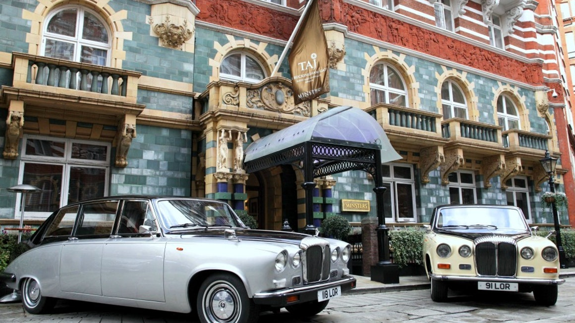 Vintage Daimler Outside Taj Group Hotel