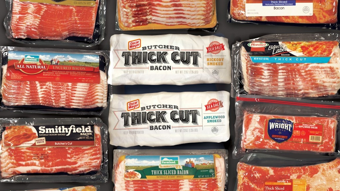 Oscar Mayer Butcher Thick Cut Bacon in Grocery Store Display Case