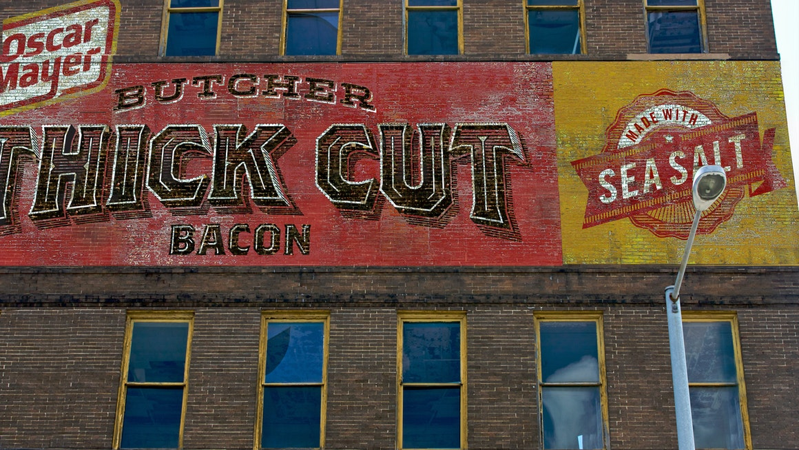 Oscar Mayer Butcher Thick Cut Bacon Advertising Wall
