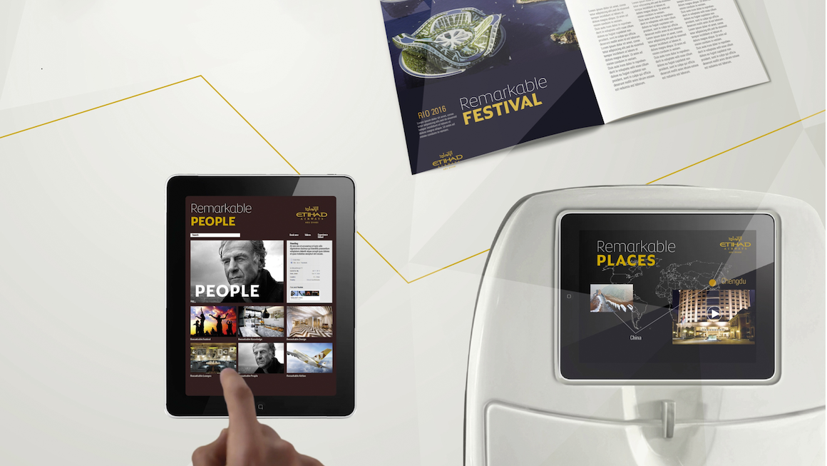 Etihad Airways Digital Displays