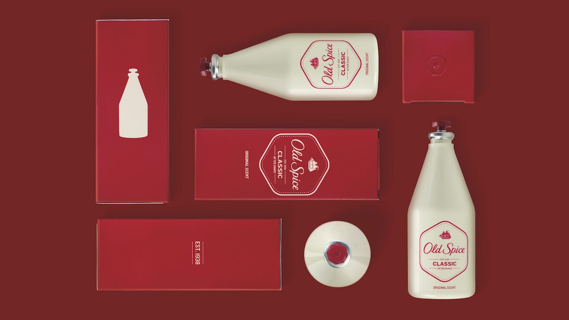 Old Spice Classic Scent Product and Packaging