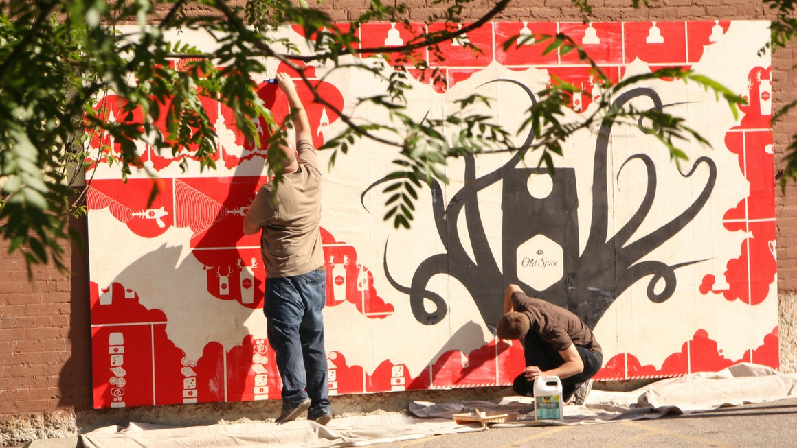 Old Spice Mural Activation