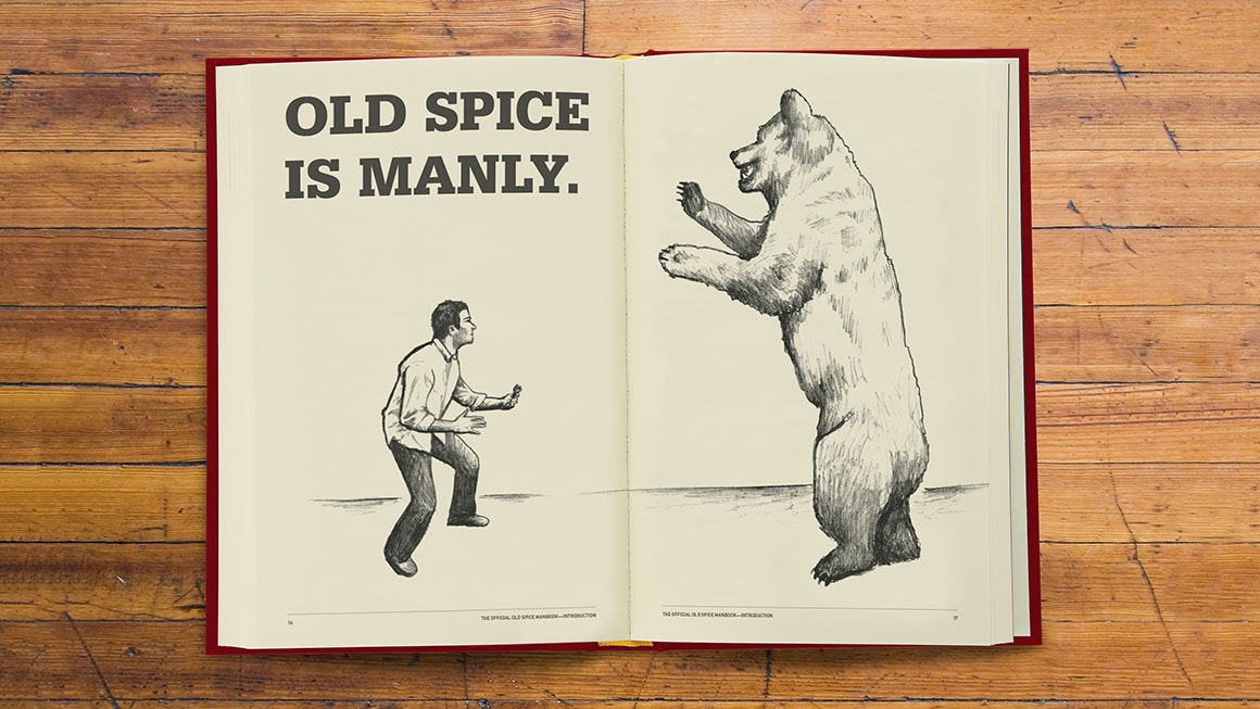 """Old Spice is Manly"" illustration"