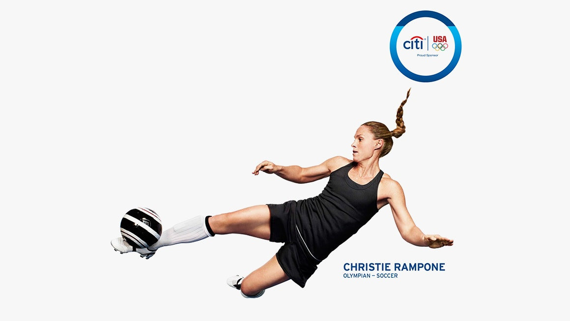 Landor at the Olympics Christie Rampone for Citi