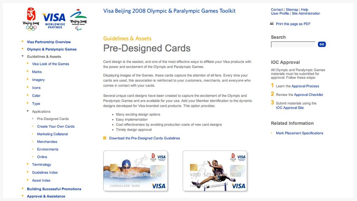 Landor at the Olympics Visa at the 2008 Beijing Games