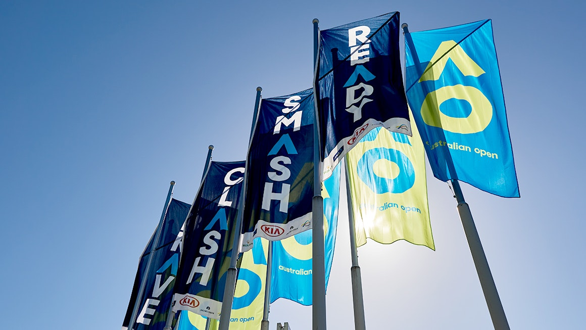 Australian Open flags banners