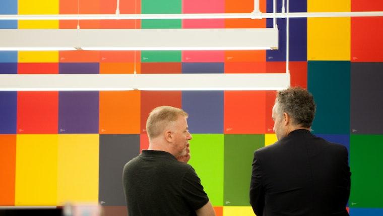 Inside the Studio Landor NY color wall