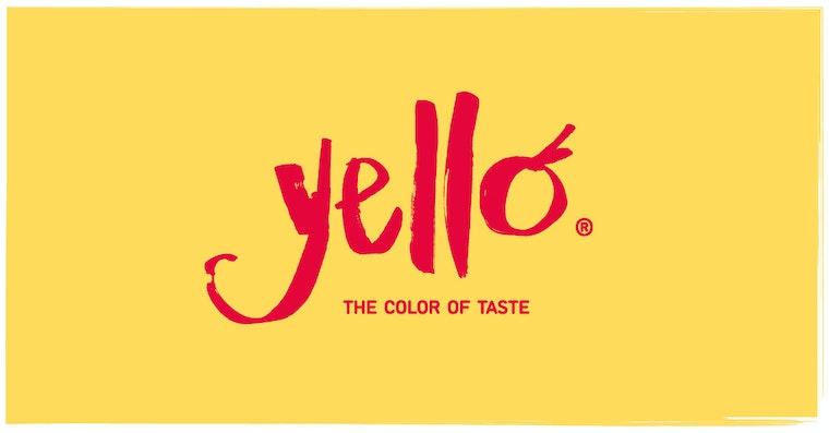 yello identity and tagline