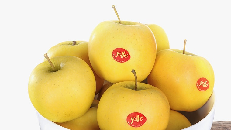 yello apples in a bowl