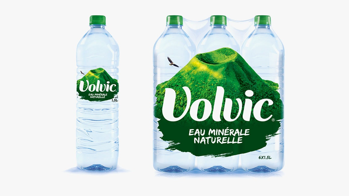 Volvic's new packaging