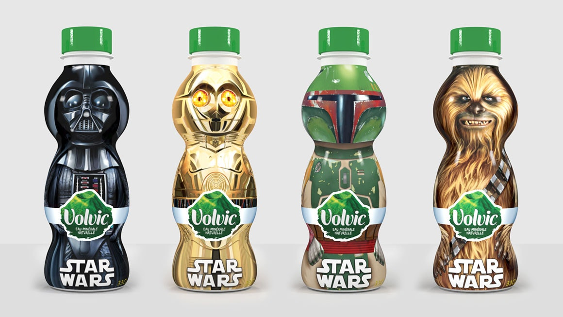 Volvic Star Wars Packaging