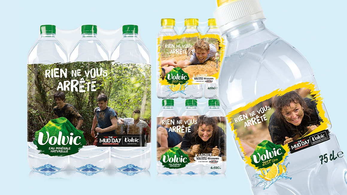 Volvic Tough Mudder Packaging