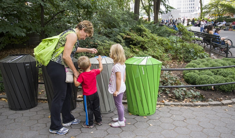 Central Park Conservancy Trash Cans Example of Local Brands