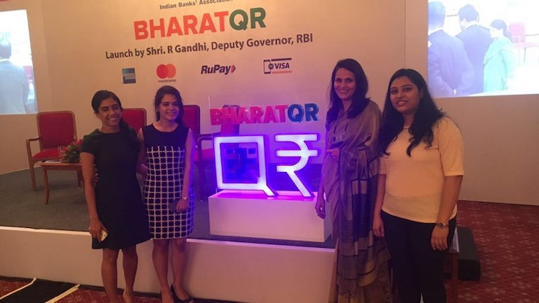 Landor team at Bharat QR launch