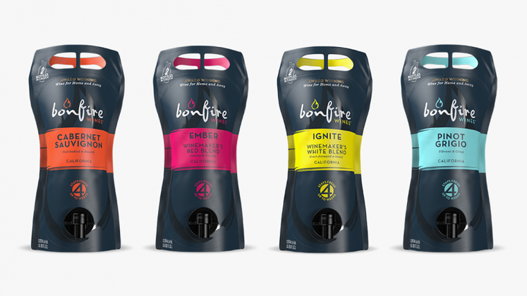 Bonfire Wines Product Suite: Wine brands byline
