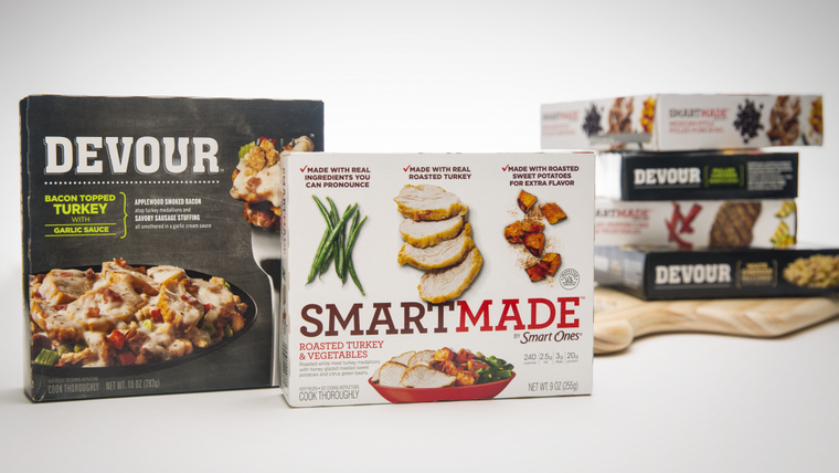 SmartMade and Devour packaging