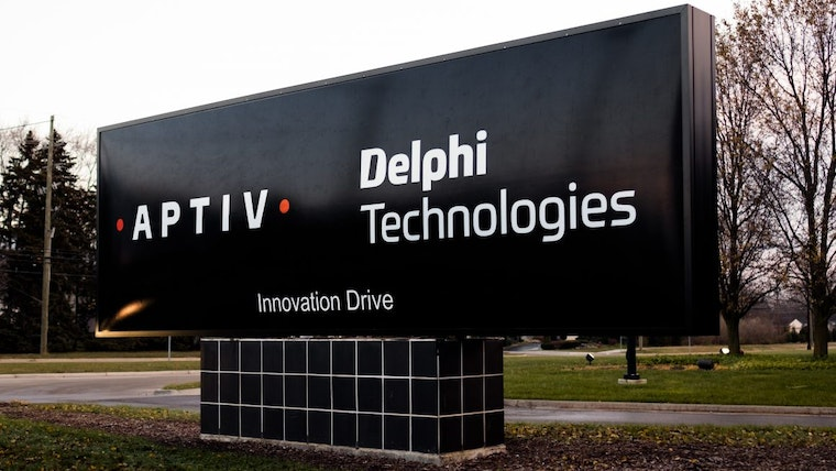 Aptiv and Delphi Technologies Logos