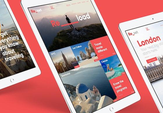 ReSet website on tablet