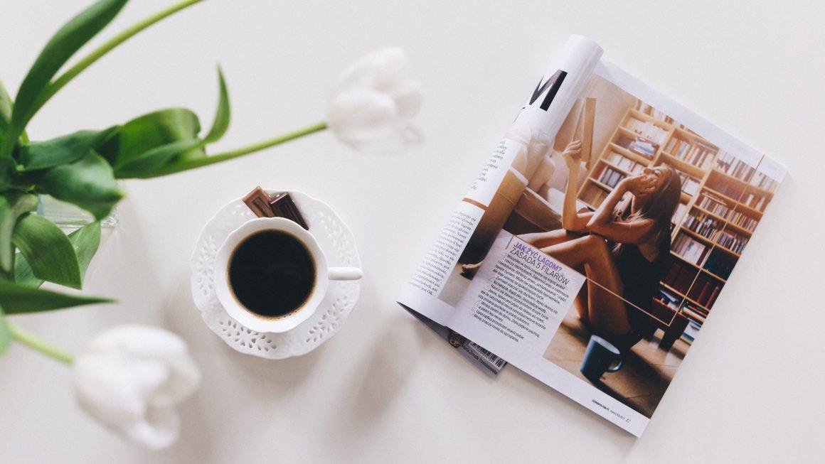 Magazine on table