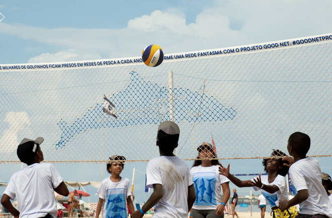 Good Net project—turning ghost nets into volleyball nets