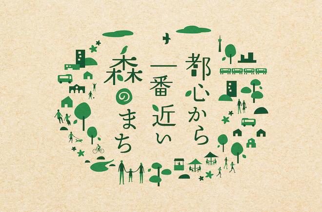 市が目指すべき都市イメージ「都心から一番近い森のまち」を中心として開発