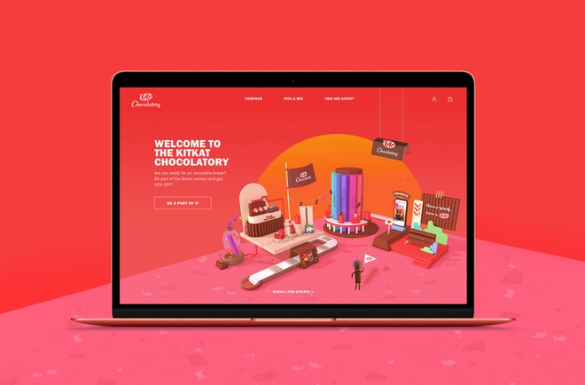 Nestlé Brazil - The KitKat Chocolatory eCommerce Experience